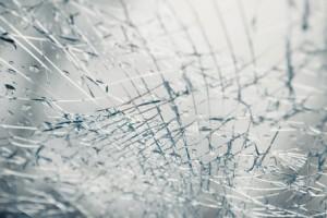 broken window after car crash accident